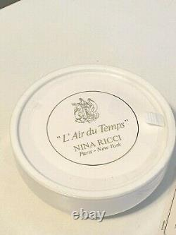 Vintage Sealed LAir Du Temps Nina Ricci Perfume Dusting Powder 6 oz
