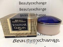 Vintage Shalimar Guerlain Perfume Dusting Body Powder 4.4 oz Boxed
