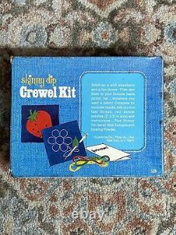 Vintage Skinny Dip Spray Cologne and Dusting Powder With Crewel Kit