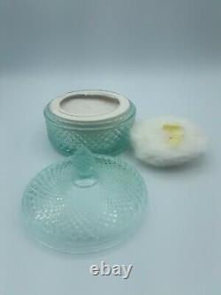 Vintage Used L Air Du Temps Perfumed Dusting Powder/rare Blue Lidded Jar80%