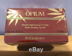 Vintage YSL OPIUM Perfumed Satin Body Dusting Powder 5.2 oz / 150g SEALED
