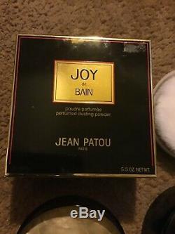Vintage jean Patou Joy 1 dusting powder+1 perfume +2 vaporisateur MIB NOS LOOK