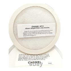 Vtg Chanel No 5 Perfumed Bath Dusting Powder with Puff Screen Insert 8 Oz Sealed