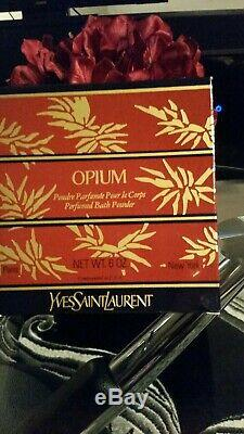 YSL Opium 6oz Perfumed Bath Powder Dusting Powder SEALED VINTAGE
