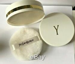 YSL Y Vintage Perfumed Bath Talc Dusting Powder New Unopened 3 oz Rare Item