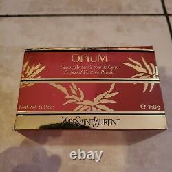 YSL Yves Saint Laurent OPIUM Perfumed Dusting Body Powder 5.2oz NEW OPEN BOX