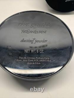 YVES SAINT LAURENT RIVE GAUCHE DUSTING POWDER 6 OZ Unused Perfumed