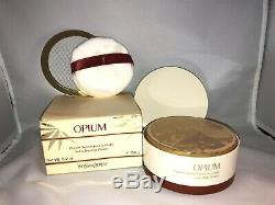 Yves Saint Laurent Opium Perfumed 5.2 Oz Talc 150g Dusting Powder Vintage Rare